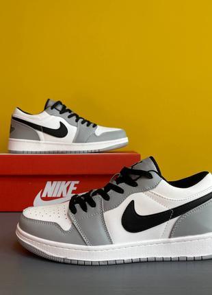 Nike Air Jordan Low Gray/Black Кроссовки Летние Мужские Кроссовки