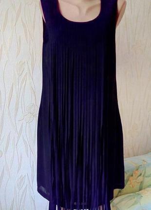 Стильное коктейльное платье с бахромой la redoute( france).