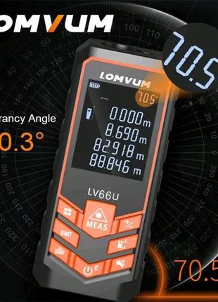 Лазерный дальномер 50м,рулетка LOMVUM lv66u с електронным уровнем
