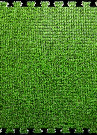 Пол пазл - модульное напольное покрытие 600x600x10мм зеленая т...