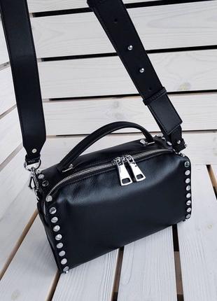 Женская кожаная сумка Polina&Eiterou. Кожаный клатч. Кроссбоди.