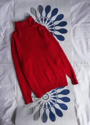 Красный шерстяной гольф свитер красная шерстяная водолазка чер...