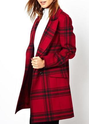Стильное брендовое шерстяное пальто karen millen.