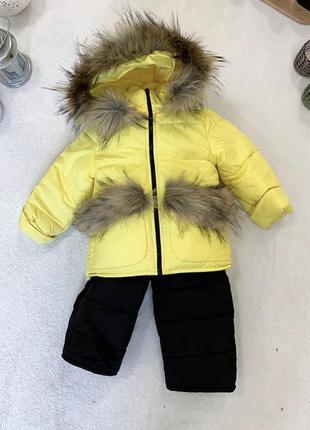 Детский зимний комбинезон для девочки 1,5-3 года