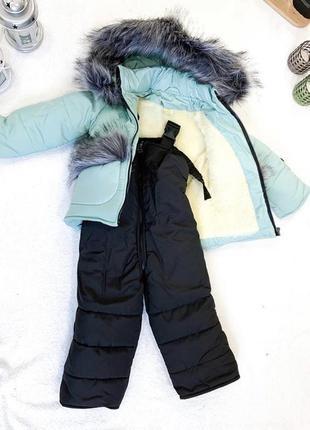 Детский зимний комбинезон для девочки и мальчика 1,5-3 года