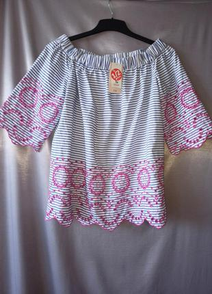 Шикарная блузка мережка распашенка кармен