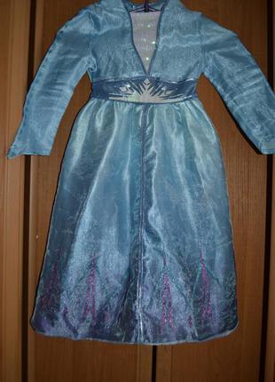 Карнавальный костюм эльза на 3-4 года, платье эльза на 3-4 года