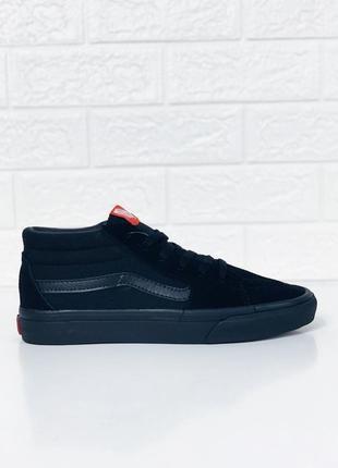Кеды мужские vans old skool black черные кроссовки!кожаные кед...