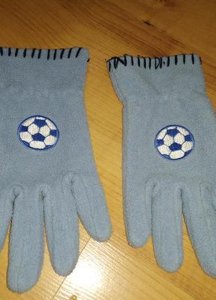 Рукавицы перчатки детские футбол на 8-10 лет