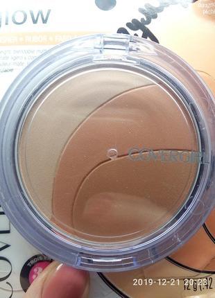 Румяна covergirl clean glow lightweight powder blush peaches 110
