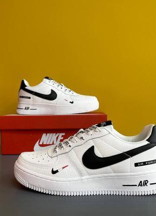 Мужские кроссовки nike air force 1  white/black