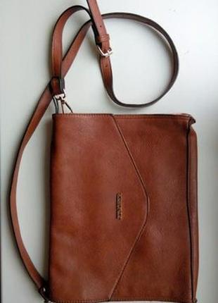 Сумка портфель папка коричневая jungfer для нетбука кожаная