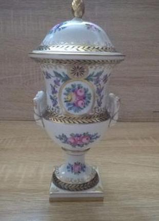 Антикварна ваза з кришкою, амфора Dresden