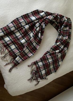 Шикарный клетчатый теплый мужской шарф