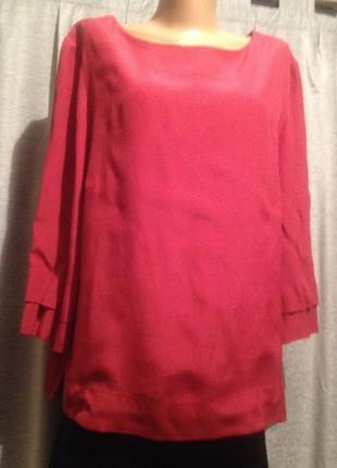 Оригинальная однотонная блузочка.273
