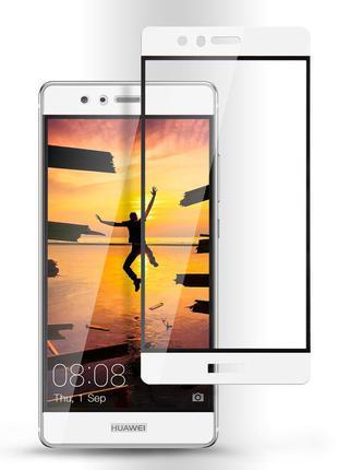 Full Cover защитное стекло для Huawei P9 - White