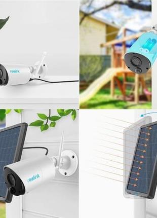 Reolink Argus Eco Full HD 1080P + солнечная панель с датчиком ...