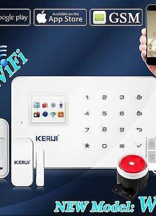 KERUI W18 GSM Wi-Fi сигнализация Android iOS русское меню в на...