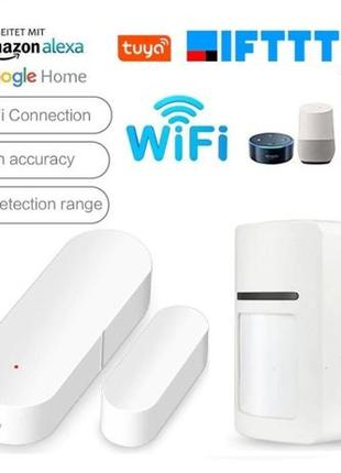 Tuya умный WiFi датчик для двери / движения сигнализация детектор