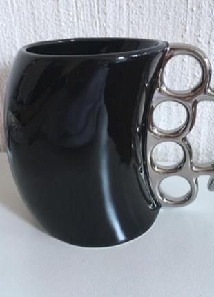 Чашка кружка керамическая кастет