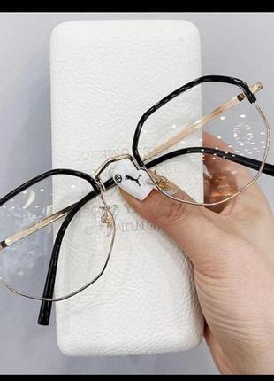 Стильні окуляри, діоптрія -2, міопія, близорукість, anti-blue,...
