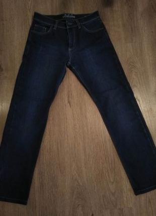 Теплые зимние мужские джинсы W30,L34