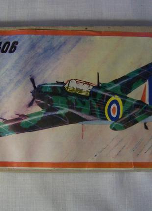 Сборная модель самолёта самолет Моран солнье 406 Morane-Saulnier