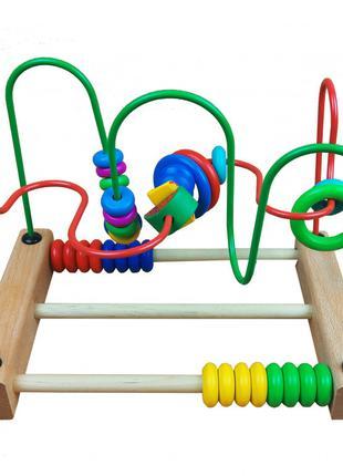 Развивающая игрушка каталка с лабиринтом MD 1241 деревянная (1...
