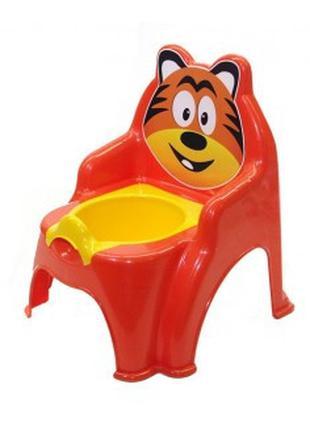 Детский горшок №1 013317/01 со съемной крышкой ( Оранжевый, ар...