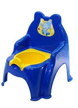 Детский горшок №2 013317/02 со съемной крышкой ( Синий, арт. 0...