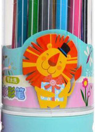 Детские фломастеры в тубус 1668-24-B, 24 цвета