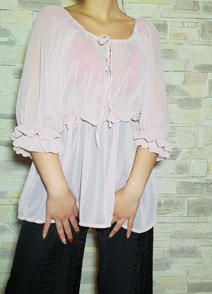 Нежно-розовая блуза internationale