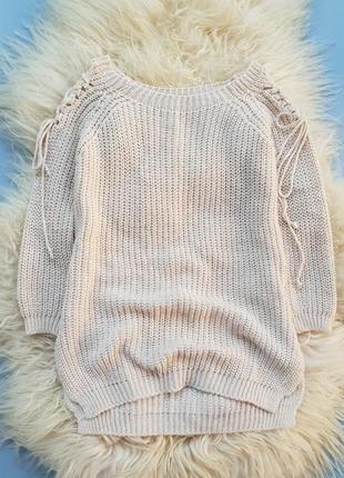 Вязаный свитер с завязками италия