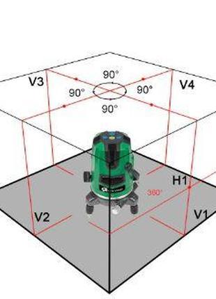 Лазерный уровень +  кронштейн магнитный