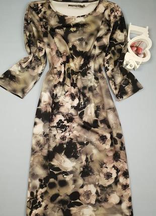 Платье миди в цветочный принт cadadia