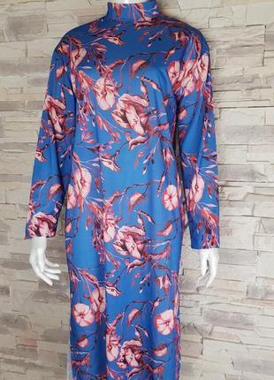 Платье миди с цветочным принтом zara