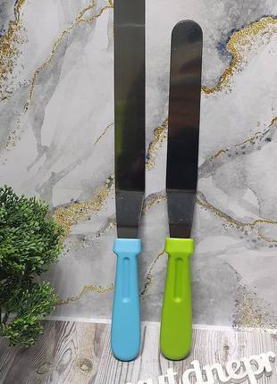 Шпатель кондитерский стальной с пластиковой ручкой