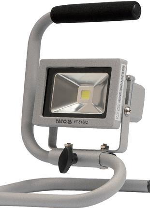 Переносной светодиодный прожектор 10 Вт с кабелем Yato YT-81802