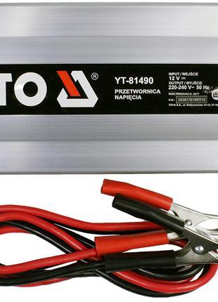 Преобразователь напряжения из 12 в 220 вольт Yato YT-81490