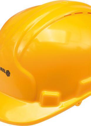 Строительная защитная желтая каска Vorel 74193 (Польша)