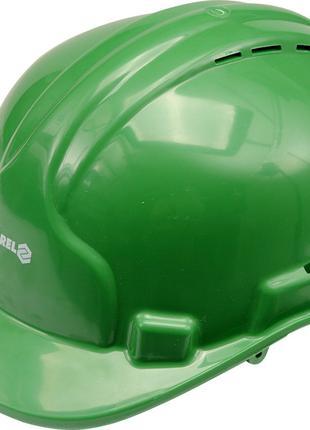 Строительная защитная зелёная каска Vorel 74195 (Польша)