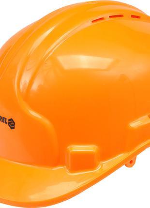 Строительная защитная оранжевая каска Vorel 74194 (Польша)