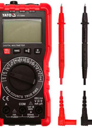 Мультиметр с цифровым LCD дисплеем Yato YT-73094
