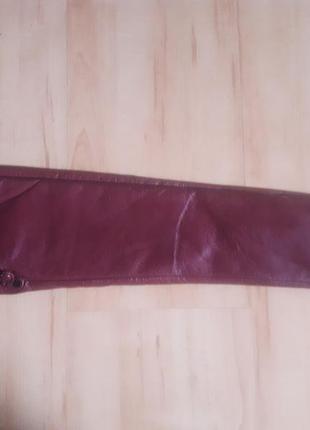 Шикарнейшие бордовые кожаные перчатки. скидка 20% до конца недели