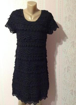 Шикарное кружевное платье next m ка