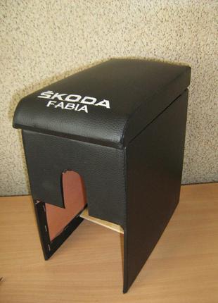 Тюнинг Подлокотник Skoda Fabia (Шкода Фабия) черный