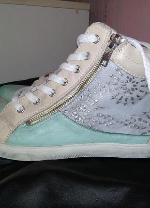 Кожаные ботинки bata (чехия) 38 р