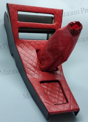 Консоль магнитолы (Борода) Заз 1102 Таврия красная