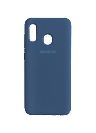 Накладка Original Silicone Case Samsung A40 blue