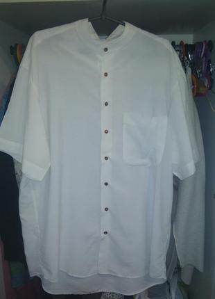 Рубашка, шведка из тоненькой ,как шёлк вискозы xl